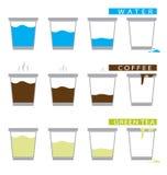 Комплект чашки вектора иллюстрация штока