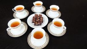 Комплект чая вечера Стоковые Изображения RF