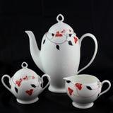 Комплект чая и кофе фарфора. стоковое изображение