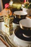 Комплект чая на подносе Стоковое Фото