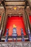 Комплект чая фарфора в музее народного искусства Гуандуна стоковые фото