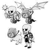 Комплект черепа Стоковые Изображения RF
