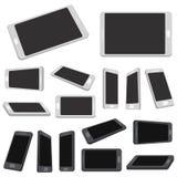 Комплект черни при пустой экран изолированный на белизне иллюстрация вектора