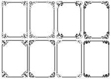Комплект черной декоративной рамки 8 Стоковые Фотографии RF