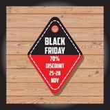 Комплект черной продажи пятницы Черное знамя пятницы дополнительное знамя может измененное сбывание формы диск Стоковое фото RF