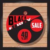 Комплект черной продажи пятницы Черное знамя пятницы дополнительное знамя может измененное сбывание формы диск Стоковое Изображение RF