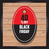 Комплект черной продажи пятницы Черное знамя пятницы дополнительное знамя может измененное сбывание формы диск Стоковое Фото