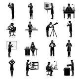 Комплект черноты ученых Стоковое Изображение