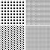 Комплект черно-белых безшовных геометрических картин Стоковые Фото