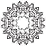 Комплект черно-белых круглых рамок doodle Стоковая Фотография RF