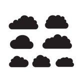 Комплект черных темных облаков Стоковые Изображения RF