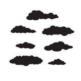 Комплект черных темных облаков Стоковые Фото