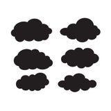 Комплект черных темных облаков Стоковое Изображение