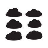 Комплект черных темных облаков Стоковое Изображение RF