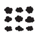 Комплект черных темных облаков Стоковая Фотография RF