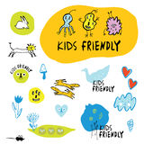 Комплект чертежей ` s детей иллюстрация штока