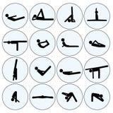 Комплект человека ручки йоги Стоковая Фотография