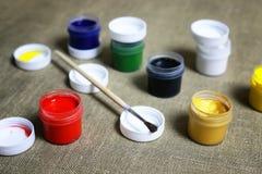 Комплект чонсервных банк краски Стоковые Фото
