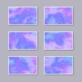 Комплект чувствительных голубых и розовых визитных карточек иллюстрация вектора