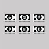 Комплект чужих банкнот Стоковое фото RF