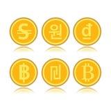 Комплект чужих монеток Стоковые Изображения