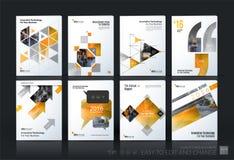 Комплект шаблона вектора дела мега План брошюры, покрывает современное бесплатная иллюстрация