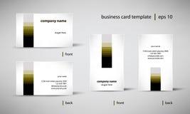 Комплект шаблона визитной карточки иллюстрация вектора