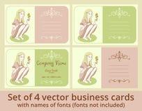 Комплект шаблона визитных карточек вектора Стоковые Изображения
