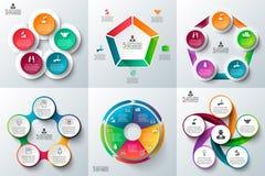 Комплект шаблона дела infographic Стоковое Изображение