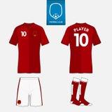 Комплект шаблона набора футбола или футбола для вашего спортивного клуба Стоковые Изображения RF