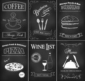 Комплект шаблона ресторана Стоковые Фото