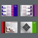 Комплект шаблона рогульки, брошюры дела Стоковое фото RF