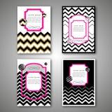 Комплект шаблонов брошюры вектора в абстрактном стиле Шаблон плана дизайна рогульки брошюры вектора Стоковые Изображения