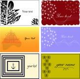 Комплект шаблонов визитных карточек Стоковые Изображения