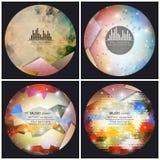 Комплект 4 шаблонов крышки альбома музыки Аннотация бесплатная иллюстрация