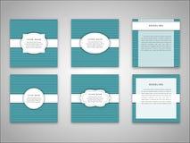 Комплект шаблонов передней и задней стороны брошюры вектора в абстрактном стиле Стоковые Фотографии RF