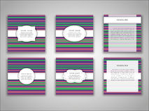 Комплект шаблонов передней и задней стороны брошюры вектора в абстрактном стиле Стоковые Изображения RF