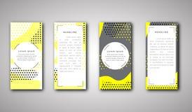 Комплект шаблонов передней и задней стороны broshure вектора в абстрактном стиле Стоковые Изображения