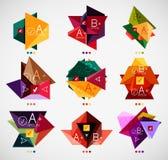 Комплект шаблонов современного дела infographic иллюстрация вектора