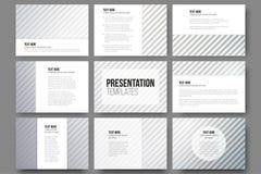Комплект 9 шаблонов для скольжений представления иллюстрация штока