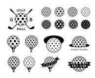Комплект шара для игры в гольф Стоковые Фото