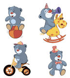 Комплект шаржа медведей бесплатная иллюстрация