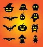 Комплект шаржа хеллоуина Стоковые Изображения