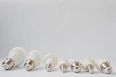 Комплект шариков СИД строки изолированных на белой предпосылке Стоковое Изображение RF
