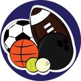 Комплект шариков спорта Стоковая Фотография RF