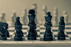 Комплект шахмат, стратегия бизнеса и концепция игры Стоковое фото RF
