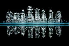 Комплект шахмат с отражением Стоковое фото RF