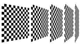 Комплект шахмат, checkered доск в перспективе Стоковое фото RF