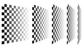 Комплект шахмат, checkered доск в перспективе Стоковая Фотография