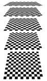 Комплект шахмат, checkered доск в перспективе Стоковое Изображение RF